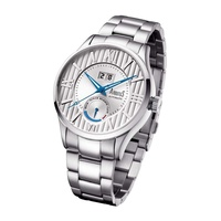 ARBUTUS POWER RESERVE AUTOMATIC AR915SWS STAINLESS STEEL SILVER MENS WATCH