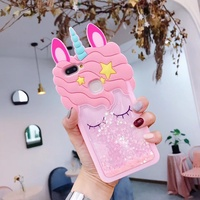 For OPPO R15 F5 A77 A39 A37 F1S A57 R11 R11S R9 R9S F3 Plus Liquid Unicorn Case