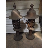 古董老燈座 復古老燈座 二手燈飾 神明燈座