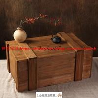 免運【雜雜鋪】中式鄉村創意復古做舊裝飾大木箱道具裝書實木收納箱有蓋舊木箱子