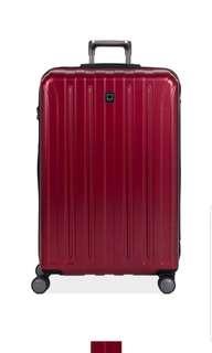 "Delsey Luggage Titanium Aero Frame 3 Piece Luggage Suitcase Set, Red 19""  25"" and 29"""