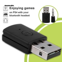 Moon Bluetooth 4.0 Dongle 3.5mm Headphone USB 2.0 Adapter Receiver for PS4 Controller