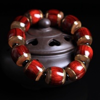 Natural red dyu rosewood barrels of pearl inlaid horns man beads hand string of transshipment and br