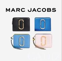 美國正品Marc jacobs Snapshot Mini Compact Wallet 黑籃粉拉鍊短夾M0013360