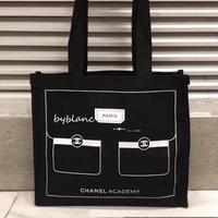 正品 Chanel 香奈兒 硬質 類牛仔布 VIP贈品 帆布購物袋 帆布包 慈善款基金會合作款 小香包