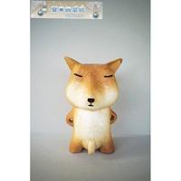 熱賣 速出 藏狐木雕 迷之微笑精致丁丁 狐狸君擺件趣味禮物夏末的晨曦