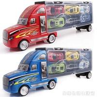 手提大貨櫃車運輸車合金仿真小汽車兒童玩具車模型玩具  居家物語
