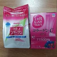 Amino collagen meiji + collgen jelly อะมิโน คอลลาเจน เมจิ + คอลลาเจน เยลลี่