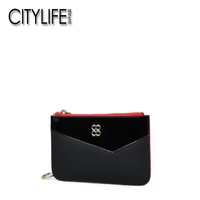 CITYLIFE Citylife Women's Wallet New Style Cowhide Bright Surface Carrying Purse Coins Pack