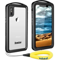 ▶$1 Shop Coupon◀  iPhone X Waterproof Case, iPhone Xs Waterproof Case, Temdan  Series Shockproof Wat