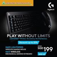 Logitech G603 Lightspeed Wireless Gaming Mouse & G613 Lightspeed Wireless Gaming Keyboard Bundle