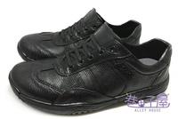【巷子屋】久大牌 男/女款假綁帶造型防水運動鞋 [889] 黑 耐油 止滑 MIT台灣製造 超值價$200