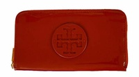 Tory Burch Stacked Patent Leather Zip Continental Wallet