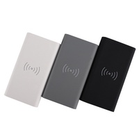 Mobile Phone Portable Power Bank 8000mAh Qi Wireless Powerbank Charger