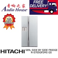 HITACHI R-S705GP2MS-GS SIDE BY SIDE FRIDGE ***1 YEAR HITACHI WARRANTY***