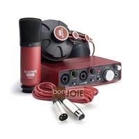 ::bonJOIE:: 美國進口 Focusrite Scarlett Studio 數位錄音套件 (全新盒裝)(含 2i2 錄音介面、麥克風、耳機)