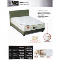 King Koil Maharaja 12 inch Pocketed Coil Spring Mattress With 10 Years Warranty