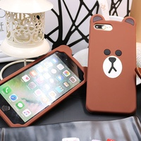 Fashion OPPO R11s Plus Soft Silicone Bear Phone Casing oppo R9s Plus Case Cover