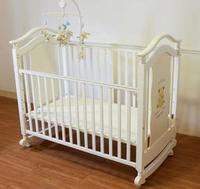 實木嬰兒床 成長型大床(搖床) -附贈寢具套組+飛天狗音樂鈴