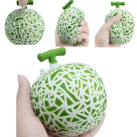 Hami Melon Squishy Slow Rising 10*10*10CM Retail Packaging Phone Straps Charms Fruit Squishy Scented Toy