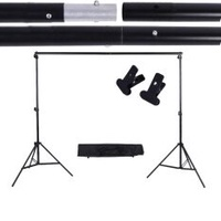 2 * 3m / 6.6 * 9.8ft Adjustable Background Support Stand Photo Backdrop Crossbar Kit with two Clamps
