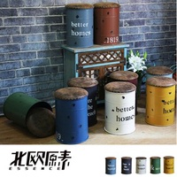 【北歐原素】工業風復古鐵桶/多功能收納桶凳(五色可選)綠色