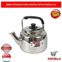 ZEBRA STAINLESS STEEL WHISTLE KETTLE PRIMA 2.5L
