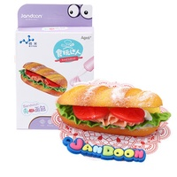 Jandoon DIY Simulated Food Sandwich Toy Clay Slime Squishy Handmade Food Play Toy Girls Gift