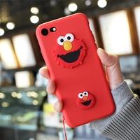 Korea Nordic Sesame Street Cartoon cute phone case for OPPO R9 9S R11 R11S plus R15 R17 PRO  phone c