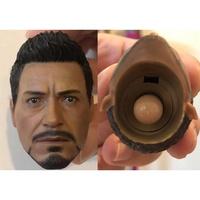 高品質 東尼史塔克 頭雕 適合HT 素體 鋼鐵人 1/6 12吋 hot toys