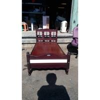 【尚典中古家具】紅木色復古3呎床架 二手床架