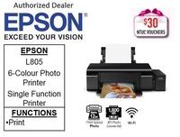Epson L805 Ink EcoTank 6-Colour Photo Printer ** Free $30 NTUC Vouchers Till  2nd Mar 2019 ** Epson 805 L 805 *** Free Gift: 16GB flash drive ***
