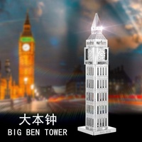 Love Spell All-Metal DIY Architecture Assembled Model 3D Mini 3D Puzzle Model The Big Ben Clock Get All Worked up