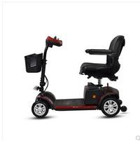 老年折疊電動四輪代步車老人電動車殘疾人助力車電瓶迷妳型 LX  居家