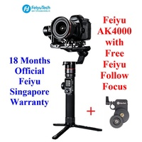 Feiyu AK4000 with Free Follow Focus Slant Angle Gimbal Stabilizer for Camera up to 4kg