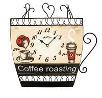 德國AMS Since 1841 咖啡杯造型時鐘 #W9533 (43x43x5cm)