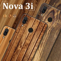 For Huawei Nova 3i Case fashion Wood grain soft phone Case For Huawei Nova3i Cover For Huawei Nova 3