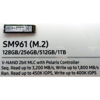 Samsung SM961 NVMe 512g 兼容MacBook