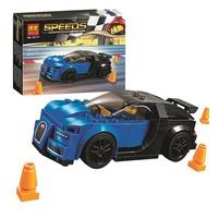 兼容樂高超級賽車系列75878藍色跑車10777男孩拼裝積木玩具28002