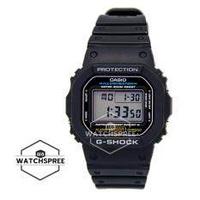 Casio G-Shock Standard Digital นาฬิกาแบรนด์แท้ 100% สายเรซิ่นสีดำ รุ่น DW5600E-1V DW-5600E-1V DW-5600E-1VDF DW-5600E-1VQ ( สีดำ G-Shock Classic )