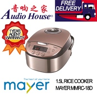 MAYER MMRC-18D 1.5L RICE COOKER ***1 YEAR MAYER WARRANTY***