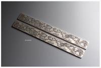 【禾洛書屋】E.011仿古銀紙鎮〈多子多福〉(23×2.3cm/支)一對/銅文鎮參考