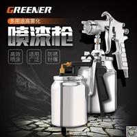 綠林油漆汽車電動噴漆槍氣動噴漆工具噴漆壺涂料乳膠漆噴槍