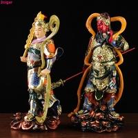 韋馱菩薩像伽藍菩薩像韋陀伽藍菩薩韋馱佛像樹脂擺件10英寸