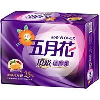 五月花 頂級蓬厚柔三層抽取衛生紙110抽*24包【愛買】