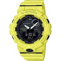 CASIO G-SHOCK G-SQUAD藍牙連結健康管理腕錶-螢光黃(GBA-800-9A)
