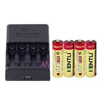 超耐久 KENTLI 金特力 1.5V充電鋰電池 3號4顆 +2用充電器 KTV閃光燈無線麥克風