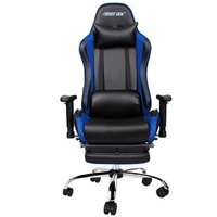 Merax Ergonomic Racing Gaming Chair with Adjustable Armrests High-Back PU Leather Chair with Footrest Home Office Folding Chair