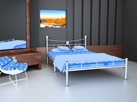Classic Silver Queen Bed Frame