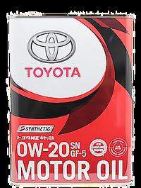 TOYOTA  Motor Oil 0W20 合成機油(日本製/4L)